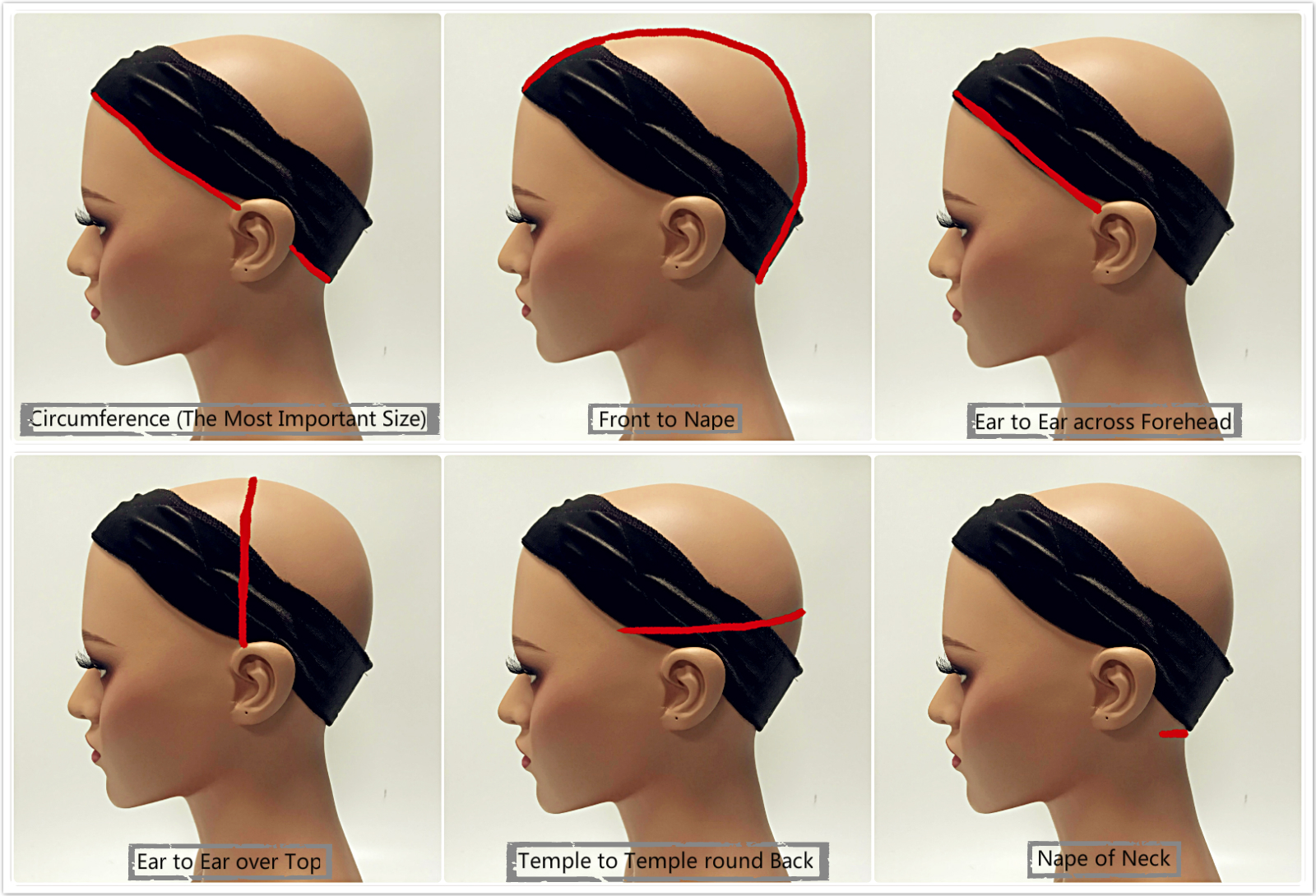how to measure your cap size, how to find your wig cap size