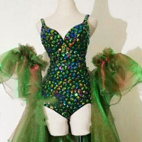 Emerald Crystallized Rave Suit