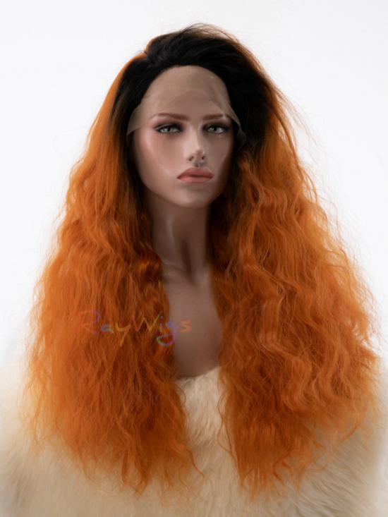 Reddish Brown with Dark Root Big Soft Hair Wig - Style -Sophia