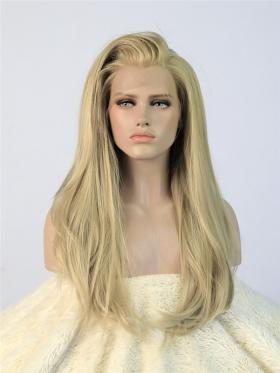 Ash Golden Straight Wig - Style - Ava
