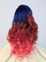 Olivia-Blue Red and Pink Ombre