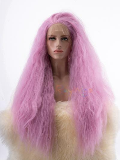 Pink Big Hair Heat Friendly Synthetic Fiber Wig - Style - Sophia