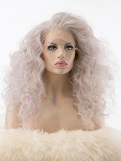 Silver Grey Curly Drag Synthetic Wig - Style - Trinity