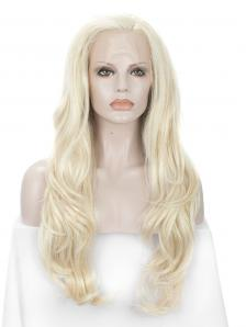 Blonde Tinsel Color Mixed Synthetic Lace Front Wig