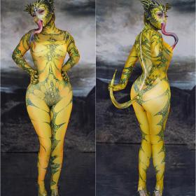 Yellow Lizard Bodysuit