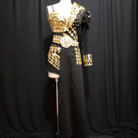 Black Sequin Rave Cabaret Suit
