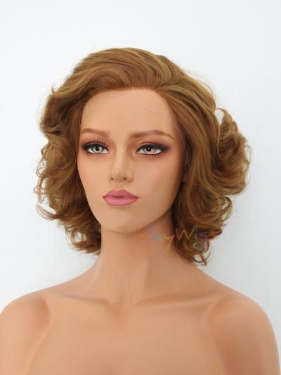 Brown Short Vintage Lace Wig - Style - Marilyn