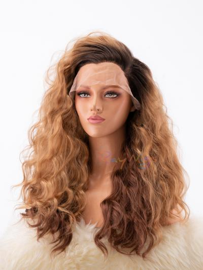 Brown Curly Stage Queen Wig - Style -Grace