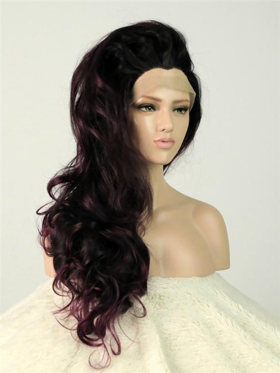 Olivia- Purple Ombre Deep Wavy