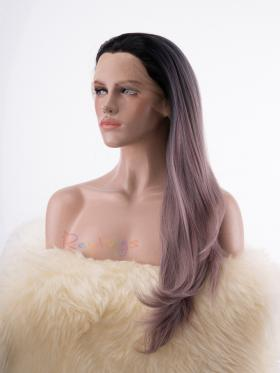 Dusty Mixed Color with Dark Root Synthetic Lace Drag Wig - Style - Ava