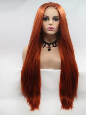 Cherry Red Long Wig