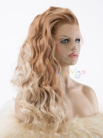 Shading Light Blonde Curly Drag Wig - Style -Grace