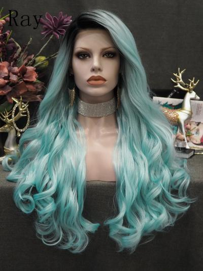 Grace- Mint Blue with Black Root