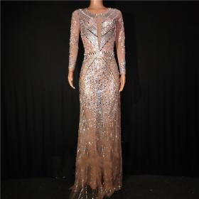 See Through Sequin Maxi Dress
