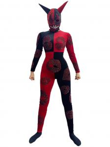 Black and Red Devil Bodysuit