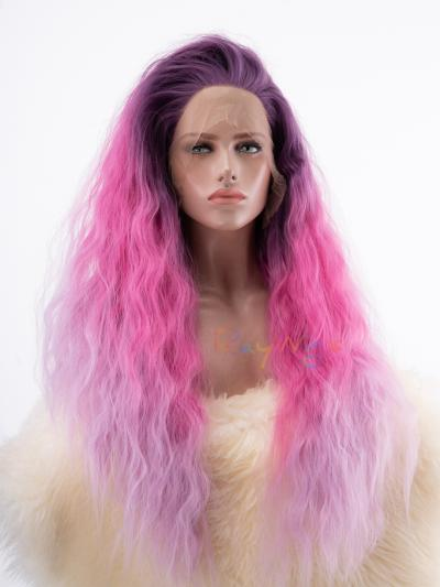 Three Colors Ombre Long Big Hair Wig - Style - Sophia