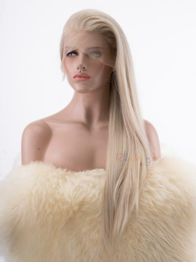 Straight Long Ash Blonde Drag Wig - Style - Neon
