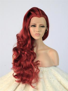 Best Seller Cherry Red Wavy Hair Wig - Style - Olivia