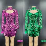 Various Colors Mirror- like Sequin Dress