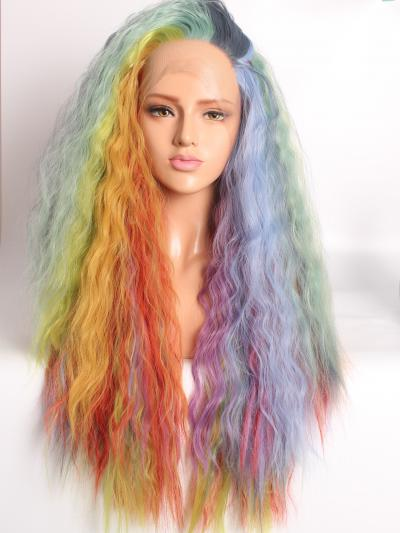 Mixed Almost All the Beautiful Pastel Colors Soft Puffy Hair Wig - Style - Sophia