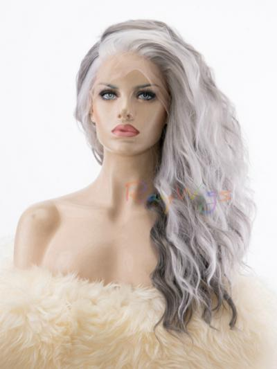 New Granny Grey Fashion Stage Costume Wig - Style - Grace