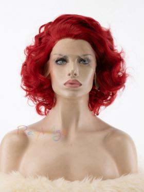 Red Vintage Wavy Drag Synthetic Wig - Style - Marilyn